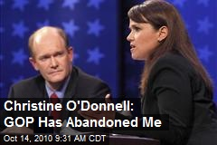 Christine O'Donnell abandoned by GOP