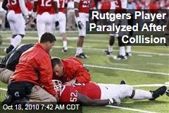 Rutgers Player Paralyzed After Collision