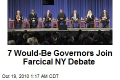 7 Guv Hopefuls Join Farcical NY Debate