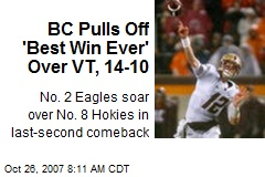 BC Pulls Off 'Best Win Ever' Over VT, 14-10