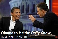 Obama to Hit the Daily Show