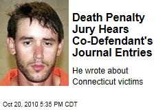 Death Penalty Jury Hears Co-Defendant's Journal Entries