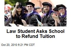 Law Student Asks School to Refund Tuition