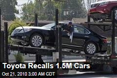 Toyota Recalls 1.5M Cars