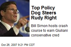 Top Policy Dog Steers Rudy Right