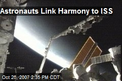Astronauts Link Harmony to ISS