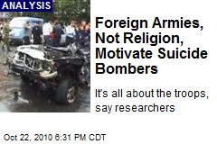 Foreign Armies, Not Religion, Motivate Suicide Bombers
