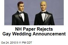 NH Paper Rejects Gay Wedding Announcement