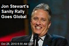 Jon Stewart's Sanity Rally Goes Global