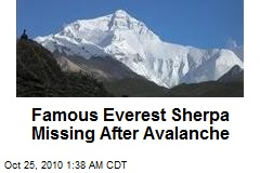 Famous Everest Sherpa Missing After Avalanche
