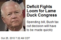 Deficit Fights Loom for Lame Duck Congress