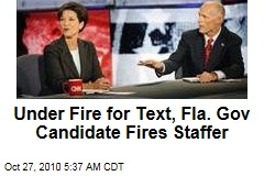 Under Fire for Text, Fla. Gov Candidate Fires Staffer