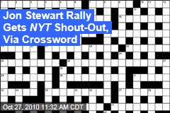 Jon Stewart Rally Gets NYT Shout-Out, Via Crossword