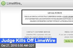 Judge Kills Off LimeWire