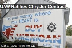 UAW Ratifies Chrysler Contract