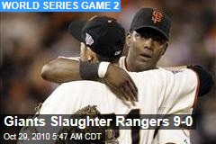 Giants Slaughter Rangers 9-0