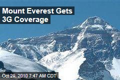 Mount Everest Gets 3G Coverage