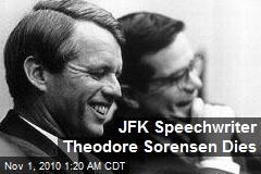 JFK Speechwriter Theodore Sorensen Dies