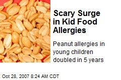 Scary Surge in Kid Food Allergies