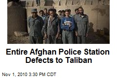 Entire Afghan Police Station Defects to Taliban