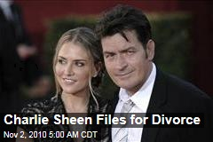 Charlie Sheen Files for Divorce