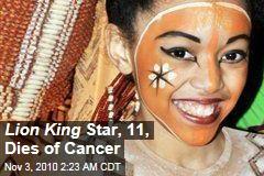Shannon Tavarez, Lion King Star, Dies of Cancer Aged 11