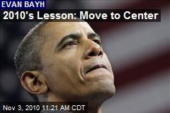 2010's Lesson: Move to Center