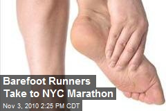 Barefoot Runners Take to NYC Marathon