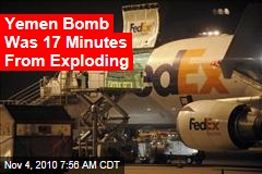 Yemen Bomb 17 Minutes From Exploding