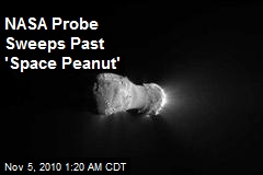 NASA Probe Sweeps Past 'Space Peanut'