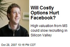 Will Costly Options Hurt Facebook?