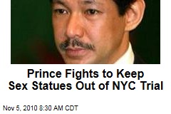 Prince Fights to Keep Sex Statues Out of NYC Trial