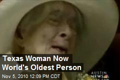 Texas Woman Now World's Oldest Person