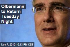 Olbermann To Return Tuesday Night