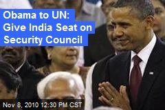 Obama to UN: Give India Seat on Security Council
