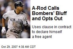 A-Rod Calls Bombers' Bluff and Opts Out