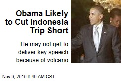 Obama Likely to Cut Indonesia Trip Short