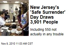 New Jersey's Safe Surrender Program Draws 3,901 People ... Including 550 Not Wanted for Anything