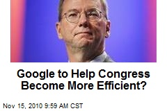 Google to Help Congress Become More Efficient?