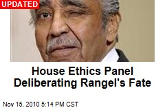 House Ethics Panel Deliberating Rangel's Fate