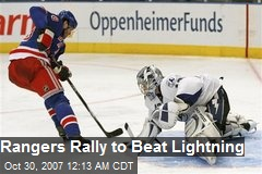Rangers Rally to Beat Lightning