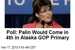 Poll: Palin Would Come in 4th in Alaska GOP Primary