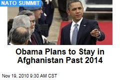 Obama Plans to Stay in Afghanistan Past 2014