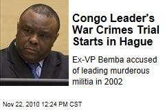 Congo Leader's War Crimes Trial Starts in Hague