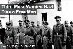 Third 'Most-Wanted Nazi' Dies a Free Man