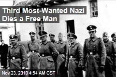 Third 'Most-Wanted Nazi' Dies a Free Man