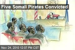 Five Somali Pirates Convicted