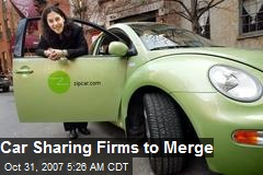 Car Sharing Firms to Merge