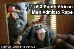 1 of 3 South African Men Admit to Rape