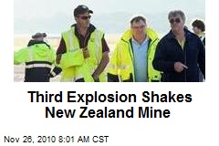 Third Explosion Shakes New Zealand Mine